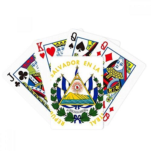 San Salvador El Salvador National Emblem Poker Playing Card Tabletop Board Game Gift by beatChong