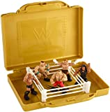 WWE EMC Portable Mini Ring Playset with 5 Mini Figures (Ring Colors May Vary)