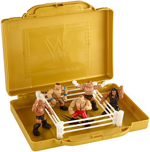 WWE EMC Portable Mini Ring Playset with 5 Mini Figures (Ring Colors May Vary) by WWE