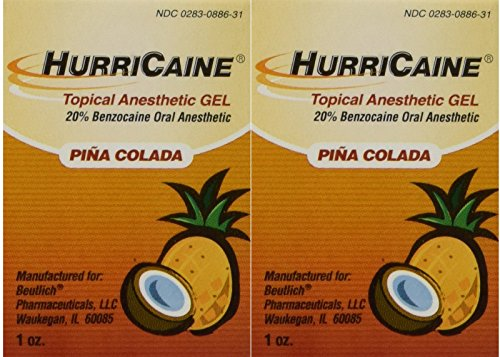 - Beutlich LP Pharmaceuticals Hurricaine Topical Anesthetic Gel, Piña Colada, 1 Ounce- Pack of 2