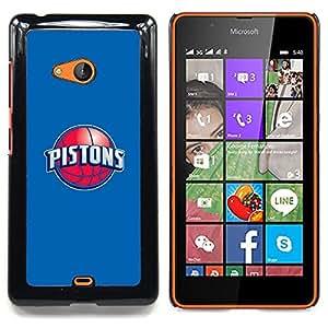 """Qstar Arte & diseño plástico duro Fundas Cover Cubre Hard Case Cover para Nokia Lumia 540 (PISTONES - Baloncesto"""")"""