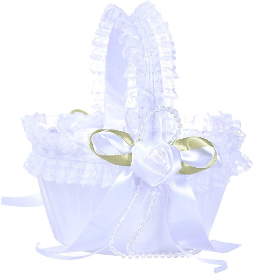 Cestino Porta Petali Matrimonio Cestino Cerimonia Bianco Decorazioni per Matrimonio A Menlang Cesto di Fiori
