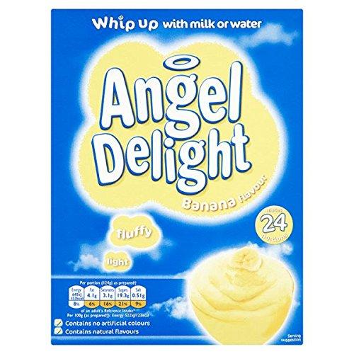 Ángel Delight plátano postre sabor Sirve 24 600g (paquete de 12 x 24 PTN)