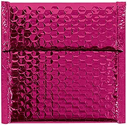 Case of 72 Silver 6-3//4 L x 7 W GBM0706S Aviditi Glamour Bubble Mailer