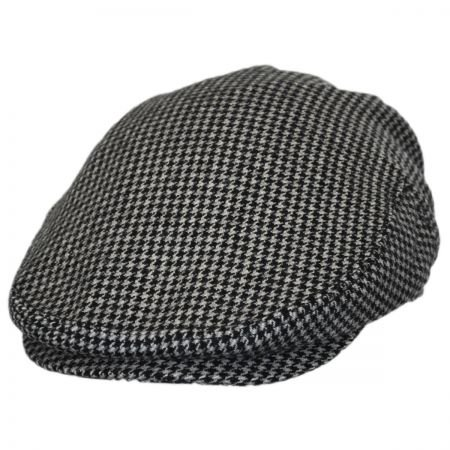 Baskerville Hat Company Houndstooth Wool Ivy Cap (X-Large) Black/Gray