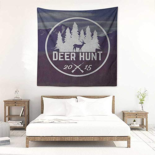 Hunting Square Tapestry for Living Room Deer
