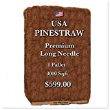 USA Pine Straw - Pine Needle Mulch - Premium Long Needle - Covers 3000 Sqft