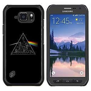 Color de Juego- Metal de aluminio y de plástico duro Caja del teléfono - Negro - Samsung Galaxy S6 active / SM-G890 (NOT S6)