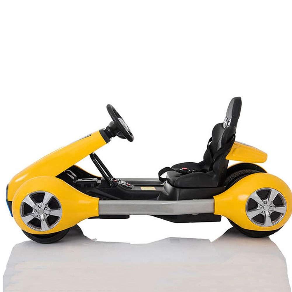 Ycco 子供電気自動車用おもちゃ車の上で2.4Gブルートゥースリモコン付き乗り物用 玩具車揺れ&運転席ドア デザイン塗装モードON ( Color : Yellow )   B07RK2V195