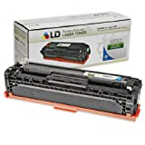 LD Compatible Replacement Laser Toner Cartridge for Hewlett Packard CE321A (HP 128A) Cyan for use in the Color LaserJet CM1415fnw, CP1525wn & CP1525nw Printers