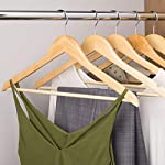 Pack of 10 Wooden Clothes Hangers