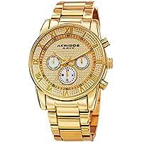 Akribos XXIV Elegant Gold Stainless Steel Watch for Men – Analog Quartz –AK939YG