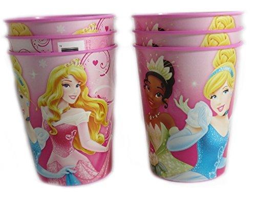6 Disney Pixar Reusable Treat Favor Party Cups (Princess (Party City Disney Princess)