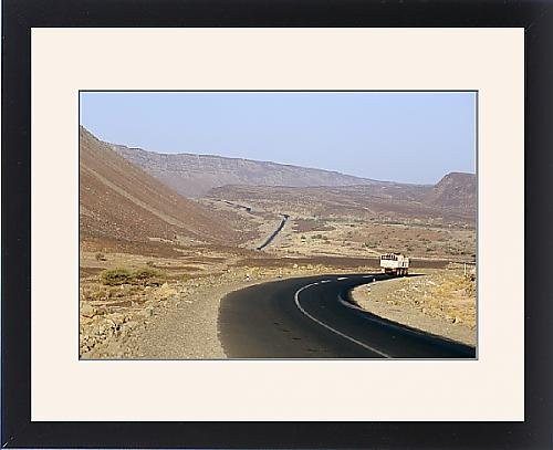 Framed Print Of Rift Valley Faults In Desert Crossed By Road To Addis Ababa  Afar Triangle