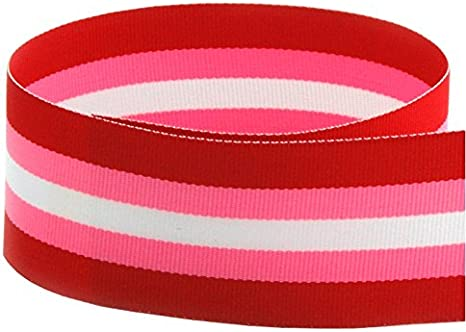 WHITE with RED 25mm wide /& 1 yard length Grosgrain Ribbon PINK  ***NEW***