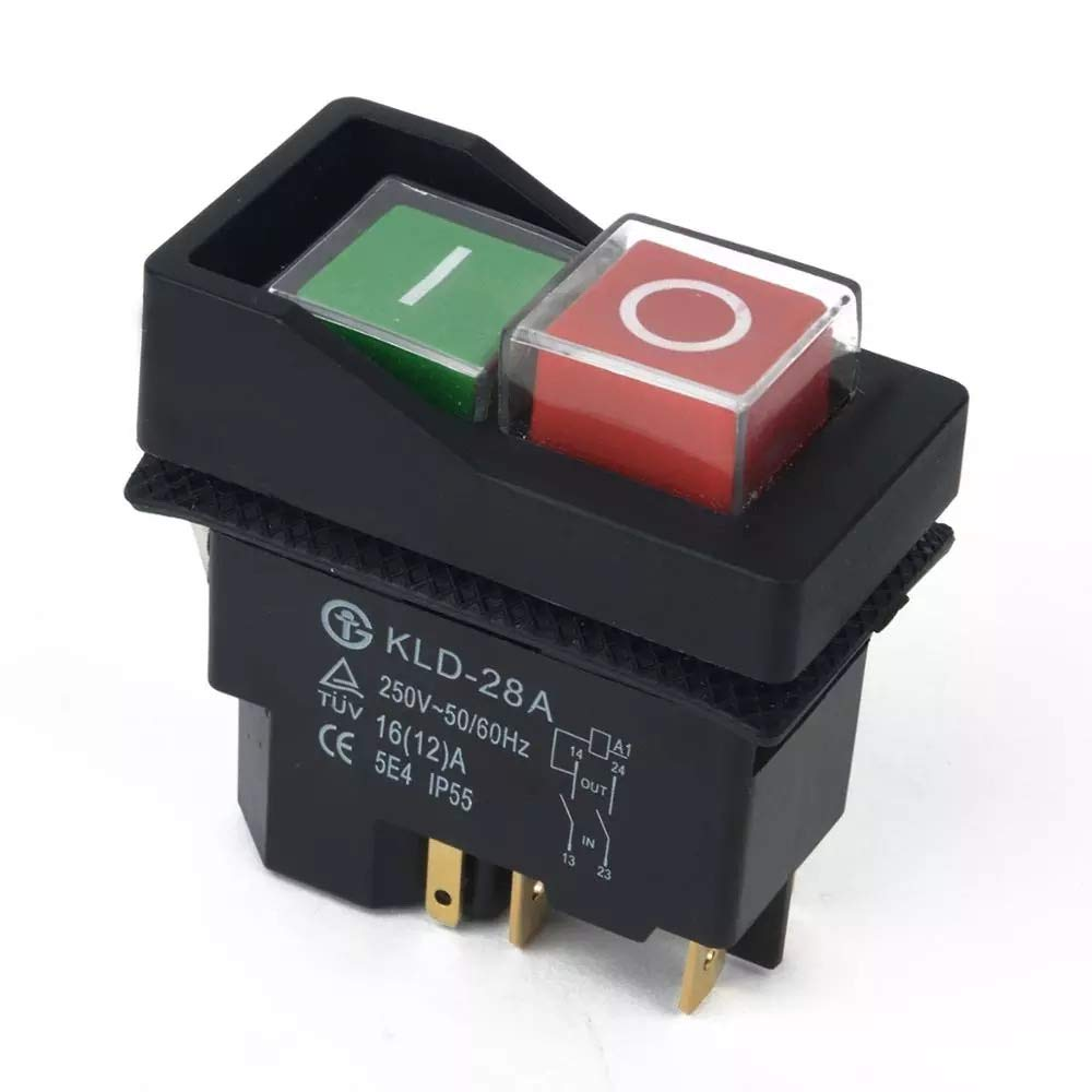 On Off Switch Button Fits Belle Minimix 140 and Minimix 150 240V Electric Cement Concrete Mixer By BMS Klinger Born