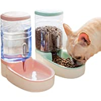 SLA-SHOP Pets Cats Dogs Automatic Waterer and Food Feeder 3.8 L with 1* Water Dispenser and 1 * Pet Automatic Feeder