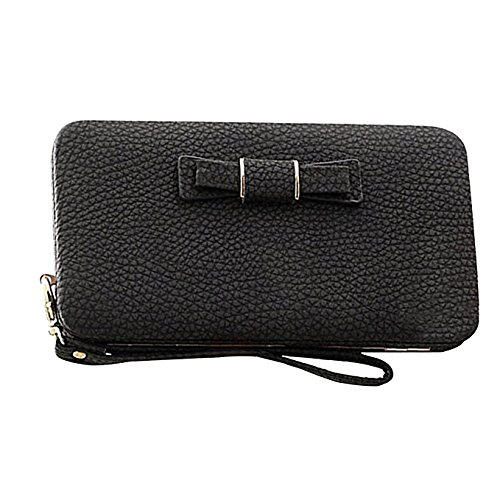 Leather Black Womens Trifold Wallet Clutch Western Floral Gift StyleZ qU8xR1x