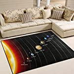 ALAZA Magic Solar System Planet Space Area Rug Rugs Mat for Living Room Bedroom