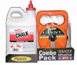 Keson G1003R Giant Chalk Box Combo with 3-Pounds of Red Chalk