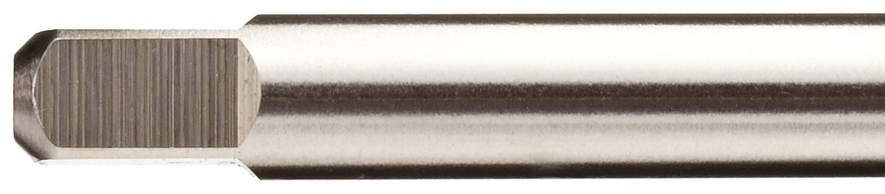 Plug Chamfer High-Speed Steel Spiral Point Tap Bright Union Butterfield 1534NR Round Shank with Square End Uncoated 6-40 Thread Size Finish 2-3//8 Oall Length UNF
