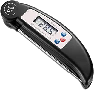 Digital Food Thermometer Probe Temperature Kitchen Cooking BBQ Meat Jam (Black)