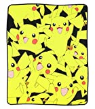bioWorld Pokémon Pikachu All Over Print Fleece Throw Blanket, 48'' x 60''