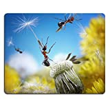Natural Rubber Gaming Mousepad IMAGE ID: 12905626 ants flying away with crafty umbrellas seeds of dandelion ant tales