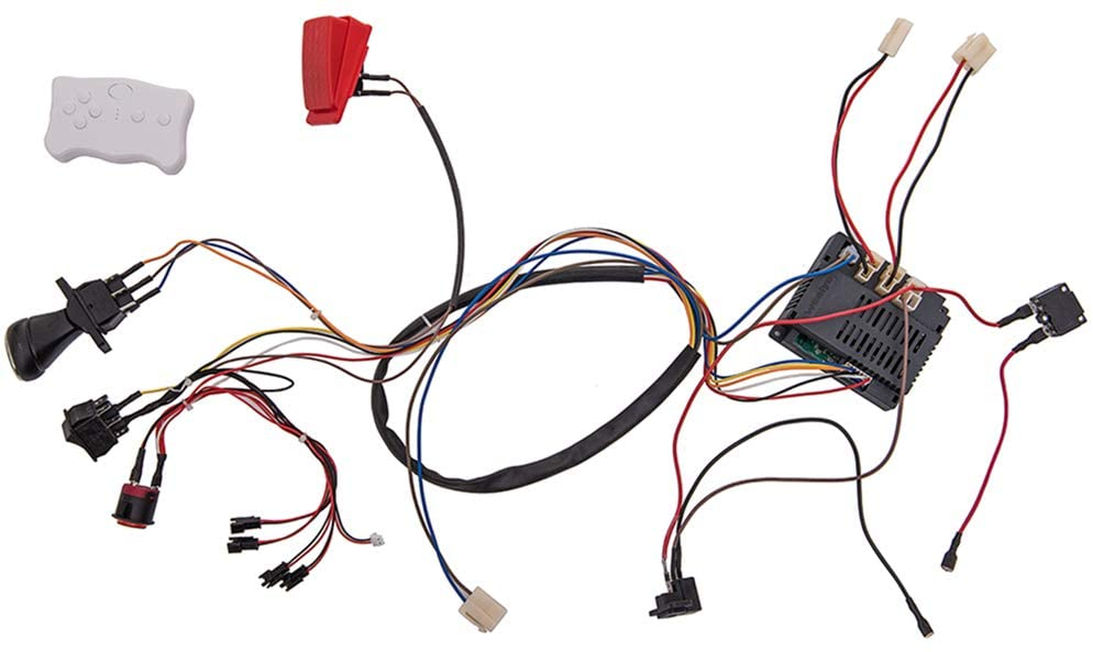 Weelye 12 Volt Children Electric Car Diy Modified Wires And Switch Kit With 2 4g Bluetooth Remote Control Self Made Baby Electric Car 12v Children Electric Ride On Car Accessories Toys Games Amazon Com
