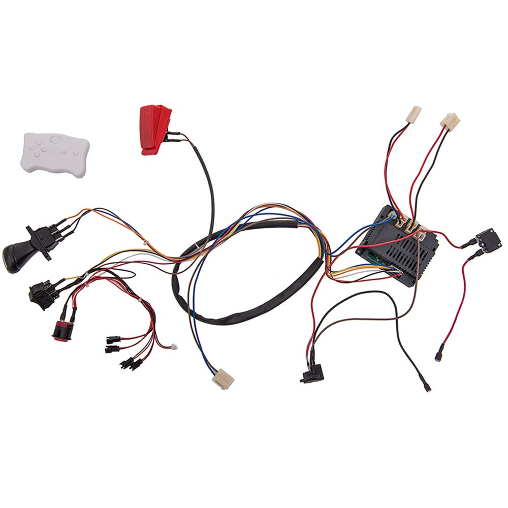 weelye 12 Volt Children Electric Car DIY Modified Wires and Switch Kit,with 2.4G Bluetooth Remote Control Self-Made Baby Electric Car 12V,Children Electric Ride On Car Accessories