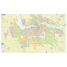 Ottawa-Gatineau Wall Map - Street Detail - Extra Large - 79.5 x 48.5 inches - Paper - Flat Tubed
