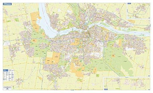 "Ottawa-Gatineau Wall Map - Street Detail - Extra Large - 79.5 x 48.5 Paper Ottawa-Gatineau Wall Map - Street Detail - Extra Large - 79.5"" x 48.5"" Paper"
