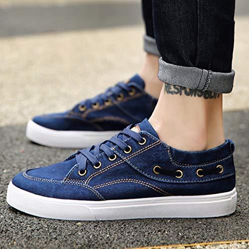 scarpe traspirante uomo 38 di tendenza estate Scarpe Blue Color Blue bordo da tela Size casual scarpe scarpe tela selvatici di uomo WangKuanHome da q7PnWfpn