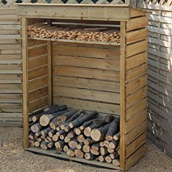 Amato Super Dry Log Store for Firewood Log Storage: Amazon.co.uk: Office  HJ01