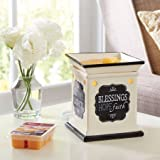 Better Homes and Gardens Blessings, Hope, Faith Inspirations Electric Wax Warmer