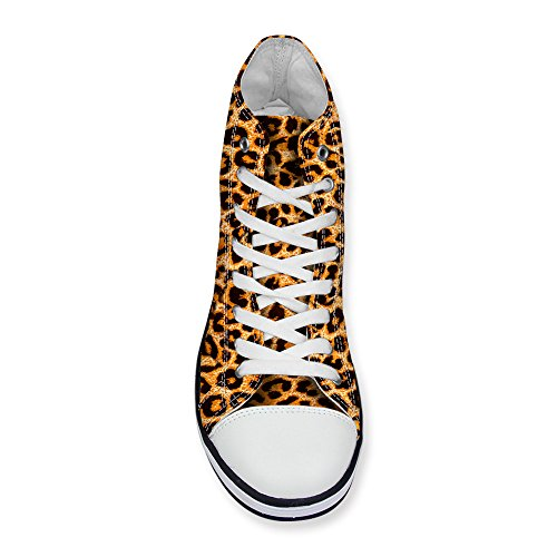 DESIGNS Fashion Sneaker Womens High up FOR Yellow Stylish Canvas U Leopard Top Lace Print qPgB5c