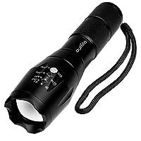 Outlite A100 portátil ultra brillante linterna de mano de LED con enfoque ajustable y 5 modos de luz, antorcha resistente al agua al aire libre, linterna táctica accionada para acampar senderismo etc