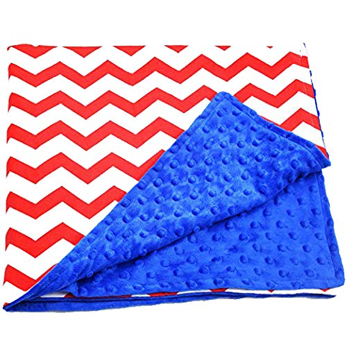 Baby Reversible Minky Dot Swaddle Receiving Blanket, Chevron Red