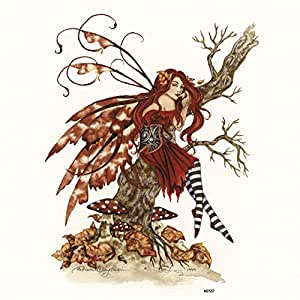Tree-Free Greetings Refrigerator Magnet, 3.5x3.5-Inch, Autumn Daydream Fairy by Amy Brown (60537)