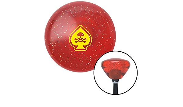 American Shifter 261886 Green Flame Metal Flake Shift Knob with M16 x 1.5 Insert Pink Flying Encased Heart