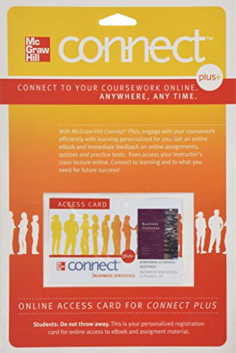 Connect Plus Access Card for Business Statistics in Practice
