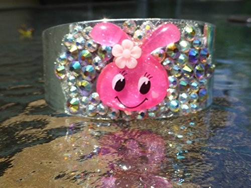 Pink Kawaii Bunny Cuff Bracelet / Kawaii Kandi