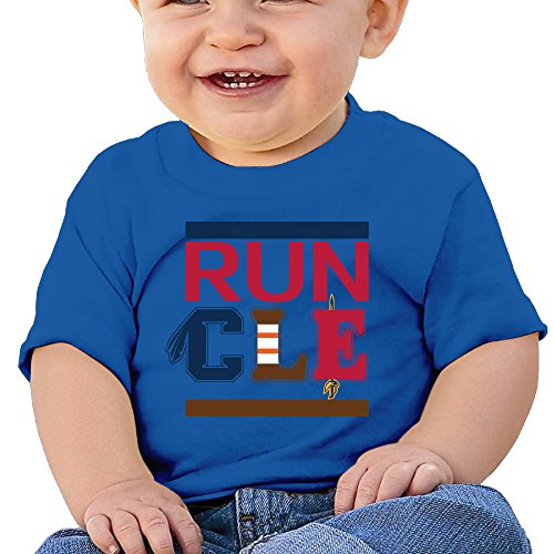 Unisex Baby RUN CLE Funny Short Sleeve T-Shirt RoyalBlue 12 Months (Wet T Contest)