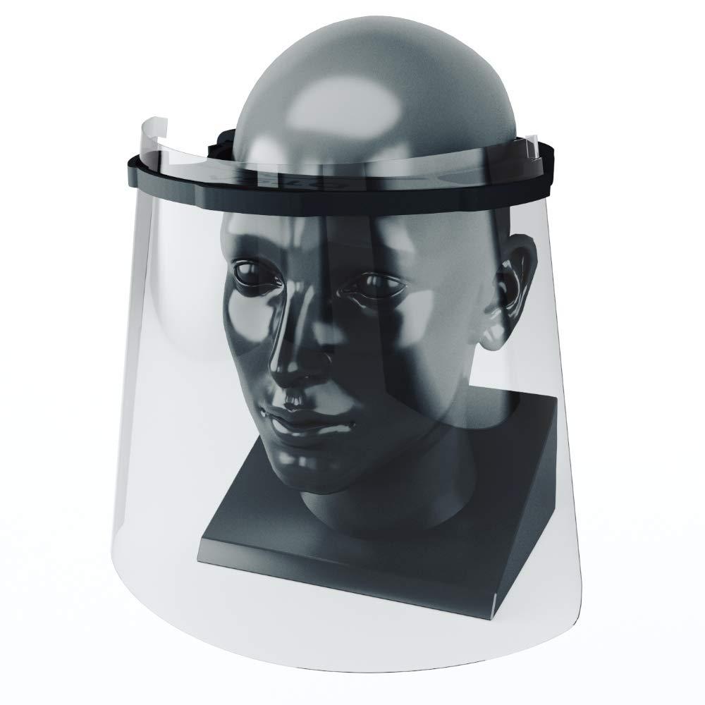 Pantalla protectora facial transparente, visera en forma de mascara para usos sanitarios gafas protectoras para evitar contaminación de los ojos a partir de salpicaduras o gotas