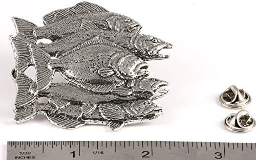 Bream Pewter Pin Brooch British Hand Crafted Coarse Fishing Angling Fish