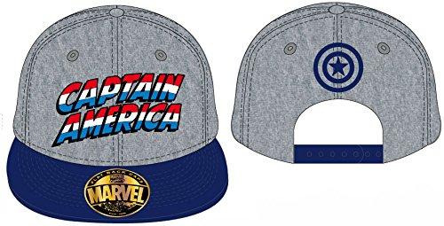Avengers Cap Captain America Flat Back Gorra Gorro Marvel Comics Pantalla Gorro Tapa