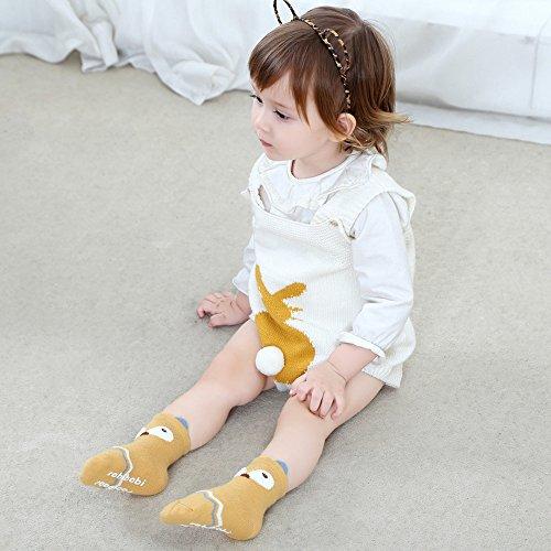 Baby Toddler Boys Girls Socks, Kids Anti Slip Cartoon Animal 6 Pairs Cotton Stockings (0-2 Years) by NUZIKU (Image #2)