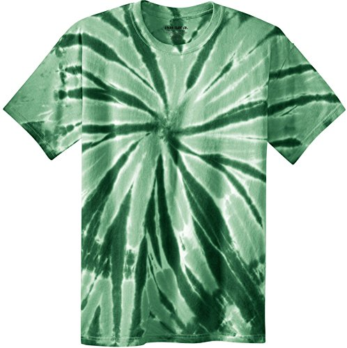 Koloa Surf Co.(tm) Colorful Tie-Dye T-Shirt,2XL-Forest Green ()