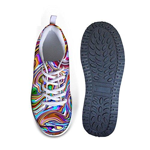Kramar Idé Färg Fashon Womens Gå Plattform Sneakers Färgglada 3