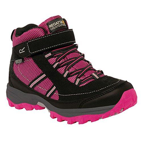 Regatta Mädchen Trailspace II Mid Trekking-& Wanderhalbschuhe, Pink (Jem/Black 7Ri), 34 EU